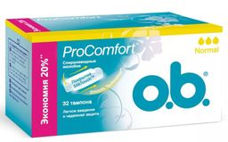 o.b. ProComfort normal тампоны женские гигиенические, нормал, 32 шт.