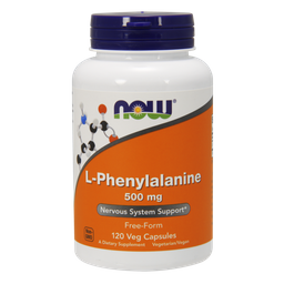 NOW L-фенилаланин, 500 мг, капсулы, 120шт.