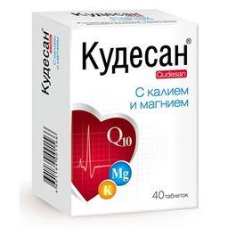 Кудесан с калием и магнием, 1000 мг, таблетки, 40 шт.