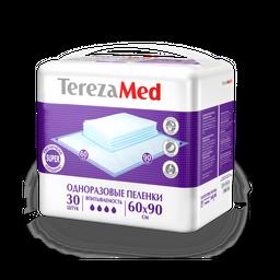 TerezaMed Super пеленки одноразовые, 90 смx60 см, Super (4 капли), 30 шт.