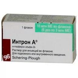 Интрон А, 18 млнМЕ, раствор для внутривенного и подкожного введения, 3 мл, 1 шт.