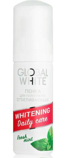 Global White пенка для полости рта отбеливающая Свежая мята, спрей, 50 мл, 1шт.