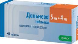 Дальнева, 5 мг+4 мг, таблетки, 30 шт.