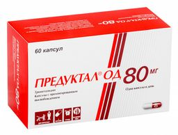 Предуктал ОД, 80 мг, капсулы с пролонгированным высвобождением, 60шт.