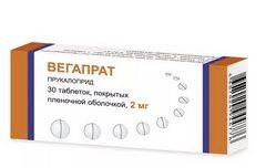 Вегапрат, 2 мг, таблетки, покрытые пленочной оболочкой, 30 шт.