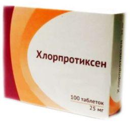 Хлорпротиксен, 25 мг, таблетки, покрытые оболочкой, 100шт.