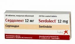 Сердолект, 12 мг, таблетки, покрытые оболочкой, 28шт.