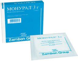 Монурал, гранулы для приготовления раствора для приема внутрь, 3 г, 1шт.