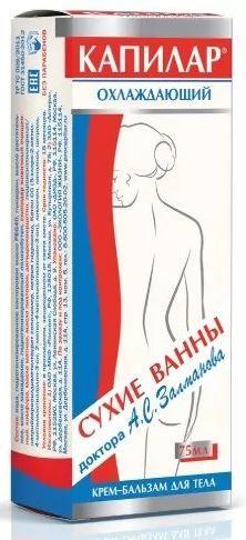 Капилар крем-бальзам для тела, крем для тела, охлаждающий, 75 г, 1 шт.