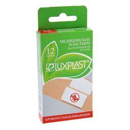 Luxplast Лейкопластырь на полимерной основе кровоостанавливающий, 19х72 мм, 12 шт.