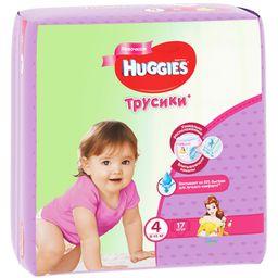 Huggies Подгузники-трусики детские, р. 4, 9-14 кг, для девочек, 17шт.