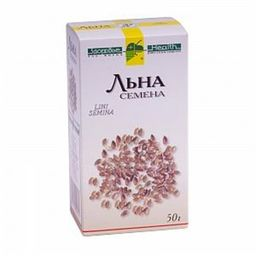 Льна семена, лекарственное растительное сырье, 50 г, 1шт.