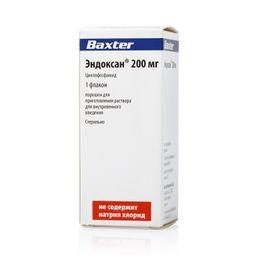 Эндоксан, 200 мг, порошок для приготовления раствора для внутривенного введения, 1 шт.