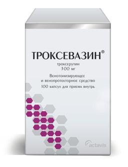 Троксевазин, 300 мг, капсулы, 100шт.