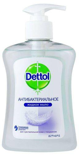 Dettol Мыло жидкое для рук Антибактериальное с глицерином, мыло жидкое, для чувствительной кожи, 250 мл, 1 шт.