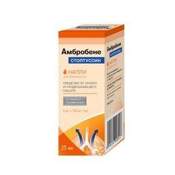 Амбробене Стоптуссин, 4мг+100мг/мл, капли для приема внутрь, 25 мл, 1шт.