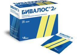 Бивалос, 2 г, порошок для приготовления суспензии для приема внутрь, 2 г, 28 шт.