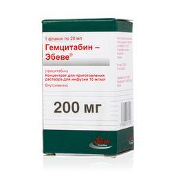 Гемцитабин-Эбеве, 10 мг/мл, концентрат для приготовления раствора для инфузий, 20 мл, 1 шт.