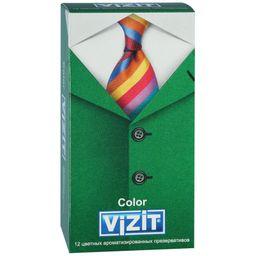 Презервативы Vizit Color, презерватив, цветные, ароматизированные, 12шт.