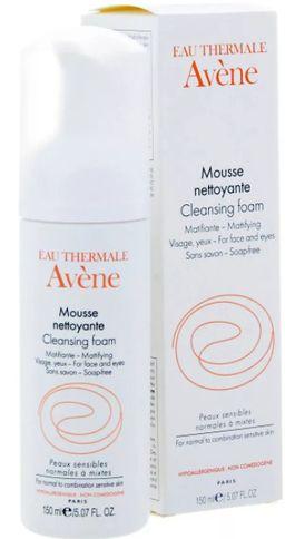 Avene пенка очищающая для лица и области вокруг глаз, пенка для лица, 150 мл, 1шт.