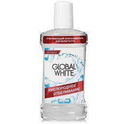 Global White Ополаскиватель отбеливающий, раствор для полоскания полости рта, 300 мл, 1шт.
