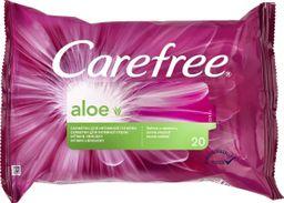 Carefree Aloe Intimate влажные салфетки для интимной гигиены, салфетки влажные, 20шт.