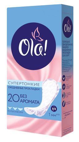 Ola! Light стринг-мультиформ прокладки ежедневные, прокладки гигиенические, супертонкие, 20 шт.