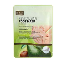 Elskin маска-носки для ног восстанавливающая Авокадо