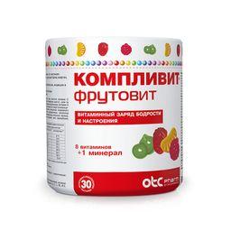 Компливит ФрутоВит, 0.45 г, пастилки, 30шт.