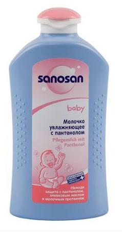 Sanosan молочко увлажняющее с пантенолом, 100 мл, 1шт.