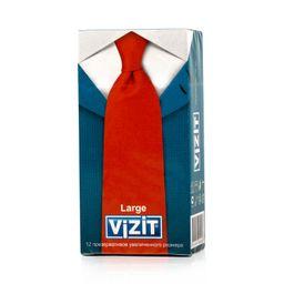 Презервативы Vizit Large, презерватив, увеличенного размера, 12 шт.
