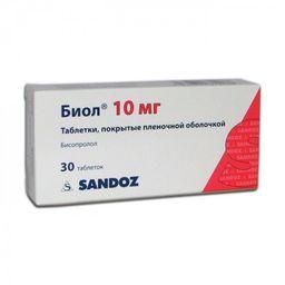 Биол, 10 мг, таблетки, покрытые пленочной оболочкой, 30 шт.