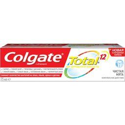 Colgate Паста зубная Total 12 Чистая мята, паста зубная, 75 мл, 1шт.