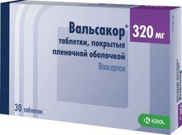 Вальсакор, 320 мг, таблетки, покрытые пленочной оболочкой, 30 шт.