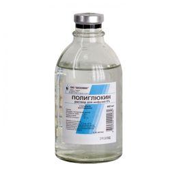 Полиглюкин, 6%, раствор для инфузий, 400 мл, 15шт.