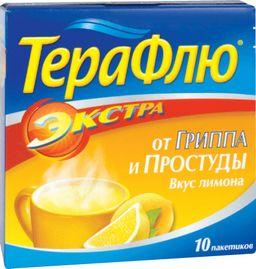 ТераФлю Экстра, порошок для приготовления раствора для приема внутрь, лимонные(ый), 15 г, 10 шт.