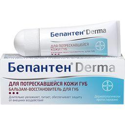 Бепантен Derma бальзам-восстановитель для губ, бальзам для губ, 7.5 г, 1 шт.