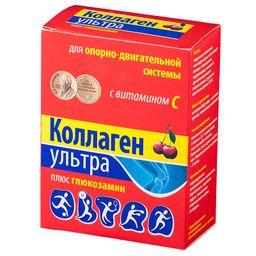 Коллаген Ультра плюс глюкозамин, порошок, со вкусом или ароматом вишни, 8 г, 7 шт.