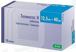 Телмиста Н, 12.5 мг+40 мг, таблетки, 28 шт.
