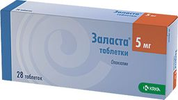 Заласта, 5 мг, таблетки, 28 шт.