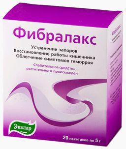 Фибралакс, порошок для приготовления суспензии для приема внутрь, 5 г, 20 шт.