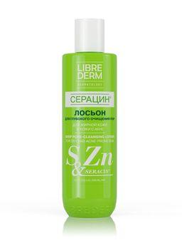 Librederm Серацин Лосьон для глубокого очищения пор, лосьон для лица, 200 мл, 1шт.