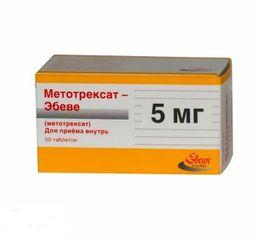 Метотрексат-Эбеве, 5 мг, таблетки, 50 шт.