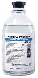Рингера раствор, раствор для инфузий, 400 мл, 12 шт.