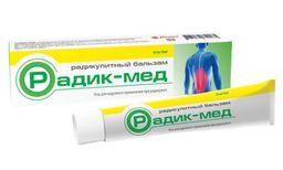 Радик-Мед радикулитный бальзам для массажа тела, гель, 35 мл, 1шт.