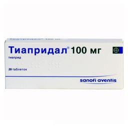 Тиапридал, 100 мг, таблетки, 20 шт.