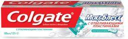 Colgate Макс Блеск с отбеливающими пластинками зубная паста, паста зубная, 100 мл, 1шт.