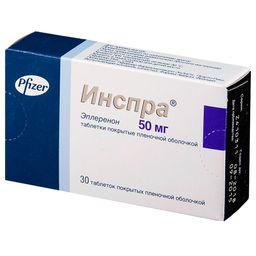 Инспра, 50 мг, таблетки, покрытые пленочной оболочкой, 30 шт.