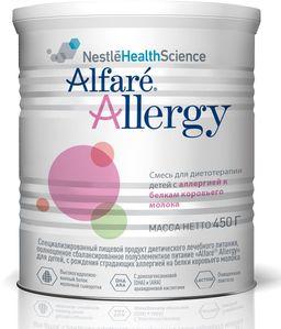 Alfare Allergy смесь для детей с рождения, при аллергии к белку коровьего молока, 450 г, 1шт.