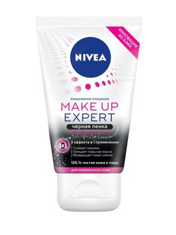Nivea Make-up Expert Пенка для умывания 3в1 черная, пена для умывания, 100 мл, 1 шт.